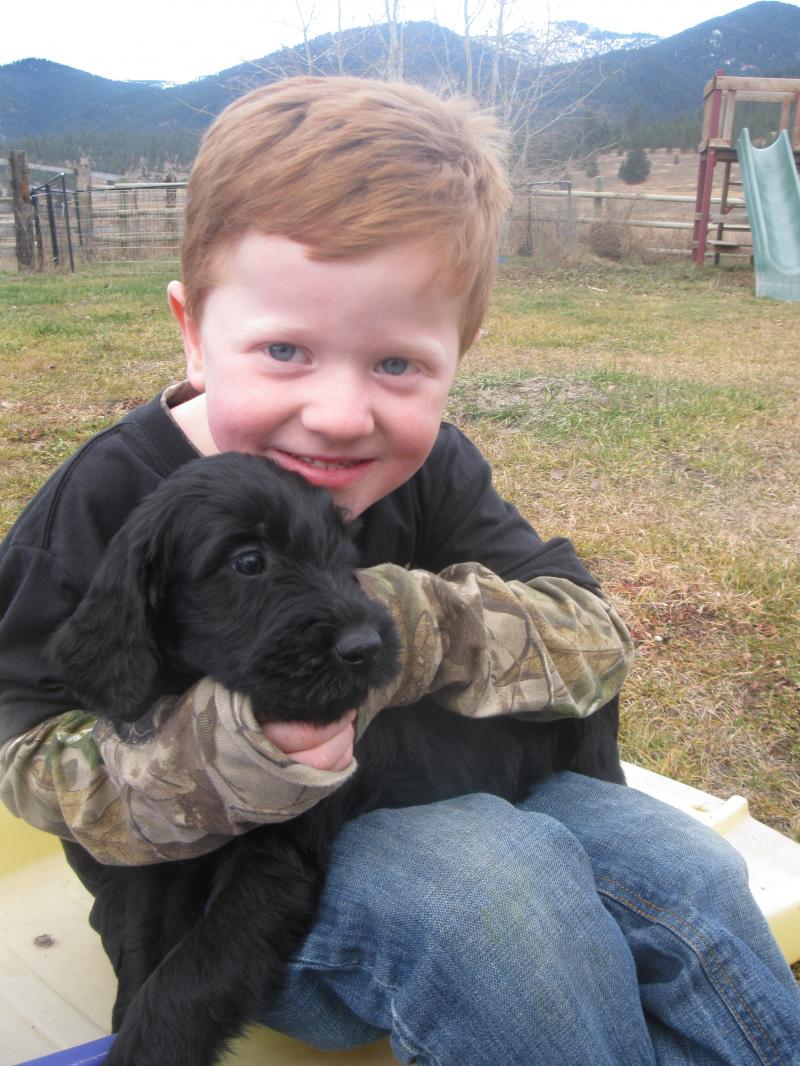 PUPPY WITH OUR SON JACOB